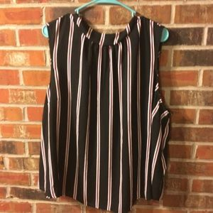 NWT sleeveless blouse shell 3x